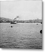 View Of Galata And Istanbul - Between 1880-1893 Metal Print