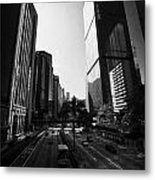 View Of Gloucester Road Wan Chai Skyscrapers Including Revenue Immigration Tower Building Hong Kong Metal Print by Joe Fox