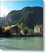 View Of Interlaken Across The Stream Metal Print