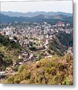 View Of Katra Township While On The Pilgrimage To The Vaishno Devi Shrine In Kashmir In India Metal Print