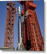 View Of Launch Pad 14 During Prelaunch Metal Print