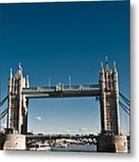 View Of London Bridge From The Thames Metal Print