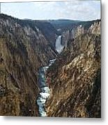 View Of Lower Falls From Artist Point Metal Print
