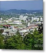 View Of Portland Oregon From Pittock Mansion  Metal Print