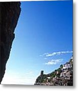 View Of Praiano Italy Metal Print by Cliff Wassmann