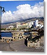 View Of Puerto De La Cruz From Plaza De Europa Metal Print