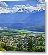 View Of Revelstoke In British Columbia Metal Print