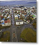 View Of Reykjavik Metal Print