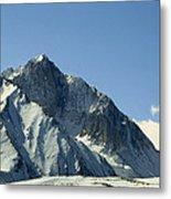 View Of Snow-covered Mountain Ridges Metal Print