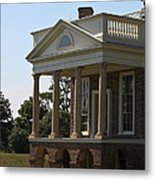 View Of South Portico At Poplar Forest Metal Print