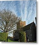 View Of St Mary Church And Clouds In Dover Castle Metal Print
