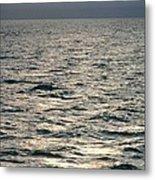 View Of Sunlit Waves On Open Water Metal Print