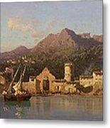 View Of Taormina Sicily Metal Print