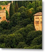 View Of The Alhambra In Spain Metal Print