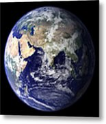 View Of The Earth From Space Showing Metal Print by Stocktrek Images