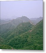 View Of The Great Wall Of China Metal Print