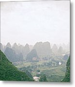 View Of The Guilin Mountains In Guangxi In China Metal Print
