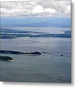 View Of The San Juan Islands From Mt. Constitution  Metal Print