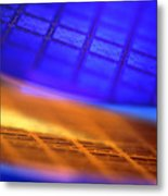 View Of Two Silicon Wafers With Their Chips Metal Print