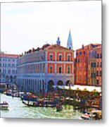 View Of Venice's Market Metal Print by Christiane Kingsley