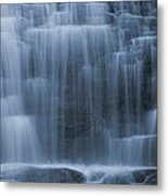 View Of Water Cascading Metal Print