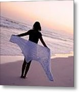 Viewing The Beauty Of The Ocean Metal Print