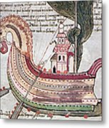 Viking Ship - 10th Century Metal Print
