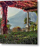 Villa Cipressi Pergola On Lake Como I Metal Print