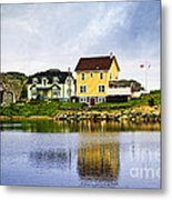 Village In Newfoundland Metal Print