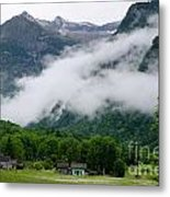 Village In The Alps Metal Print