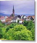 Village Of Rottelsheim, Alsace, France Metal Print