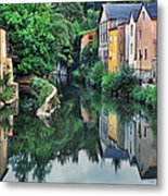 Village Reflections In Luxembourg II Metal Print