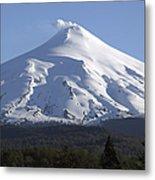 Villarrica, Steaming Crater, Araucania Metal Print