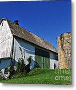 Vintage American Barn And Silo 1 Of 2 Metal Print