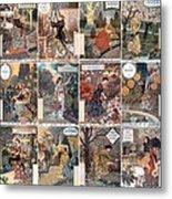 Vintage Art Nouveau French Calendar Art Metal Print