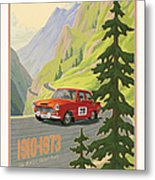 Vintage Austrian Rally Poster Metal Print by Mitch Frey