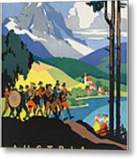 Vintage Austrian Travel Poster Metal Print