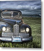 Vintage Auto On The Prairie Metal Print