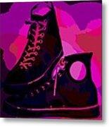 Vintage Basketball Shoes Metal Print