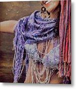 Vintage Belly Dancer Metal Print