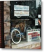 Vintage Bicycle And American Junk  Metal Print