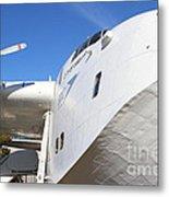 Vintage Boac British Overseas Airways Corporation Speedbird Flying Boat . 7d11273 Metal Print