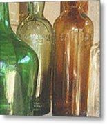 Vintage Bottles Metal Print by Georgia Fowler
