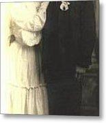 Vintage Bride And Groom Metal Print