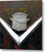 Vintage Caddy Emblem Metal Print