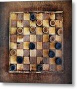 Vintage Checkers Game Metal Print