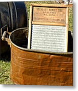 Vintage Copper Wash Tub Metal Print
