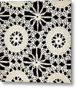 Vintage Crocheted Doily Metal Print