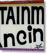 Vintage Dance Sign Metal Print