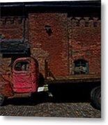 Vintage Distillery Truck Metal Print